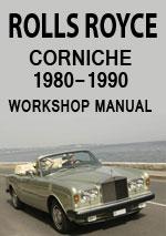 Rolls Royce Corniche Workshop Service and Repair Manual