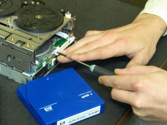 IBM LTO Tape Drive repair in progress in our LTO repair service centre