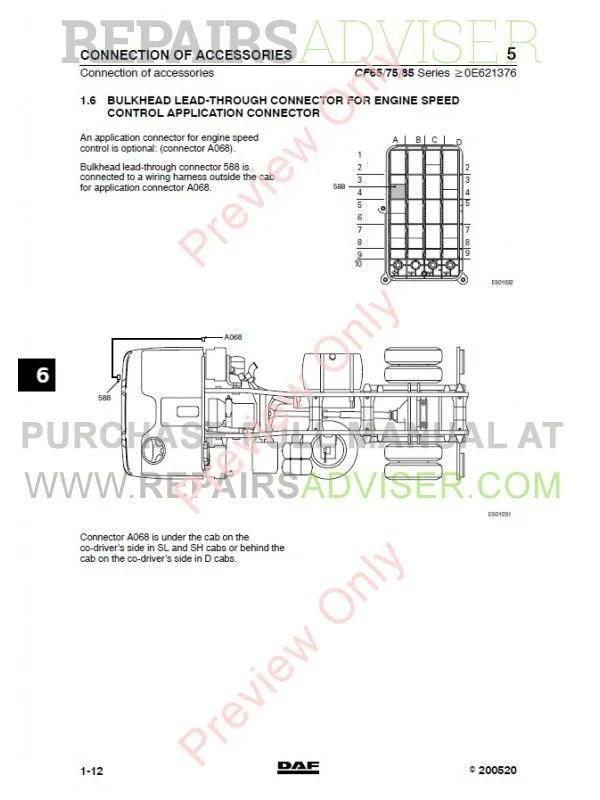Daf Truck Cf65 Cf75 Cf85 Wiring Diagram Manual Download