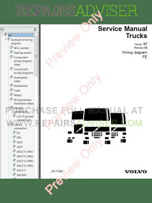 Volvo Trucks FE Wiring Diagrams Service Manuals PDF Download