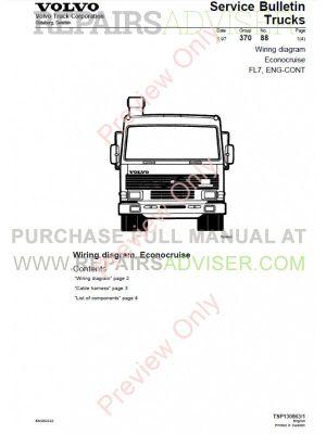 Volvo Trucks FL7 FL10 FL12 Wiring Diagram Service Manual