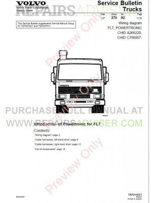 Volvo Trucks FL7 FL10 FL12 Wiring Diagram Service Manual PDF Download
