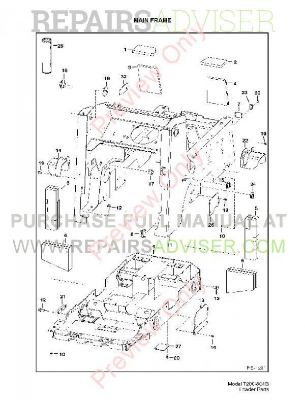 Bobcat T200 Turbo 864 G Series Parts Manual Download