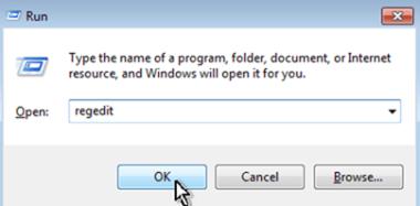 open registry editor