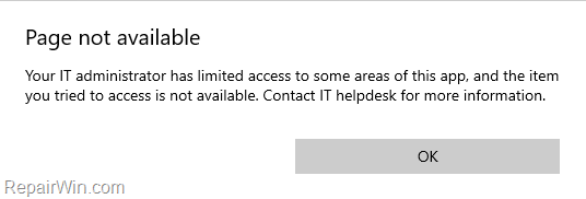 Unable to Start Threat Service. Page not available.