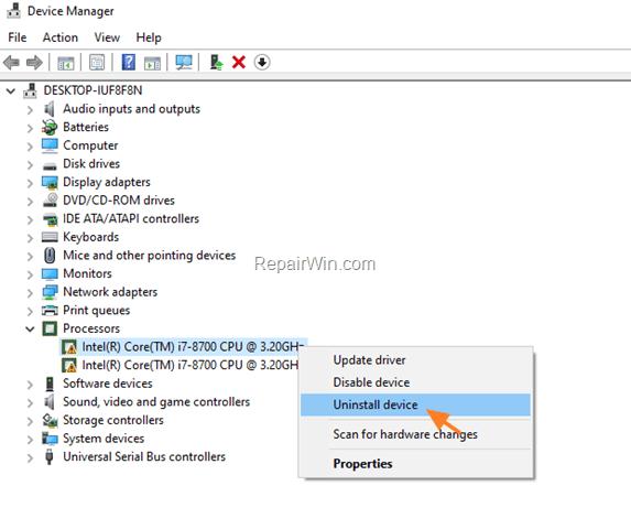 FIX Code 32 on Intel CPU