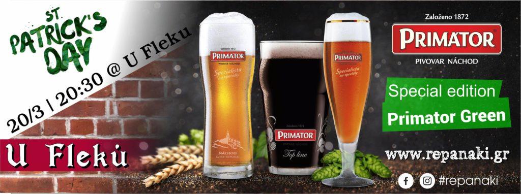 St. Patrick's Day & Primator Green Premium Lager