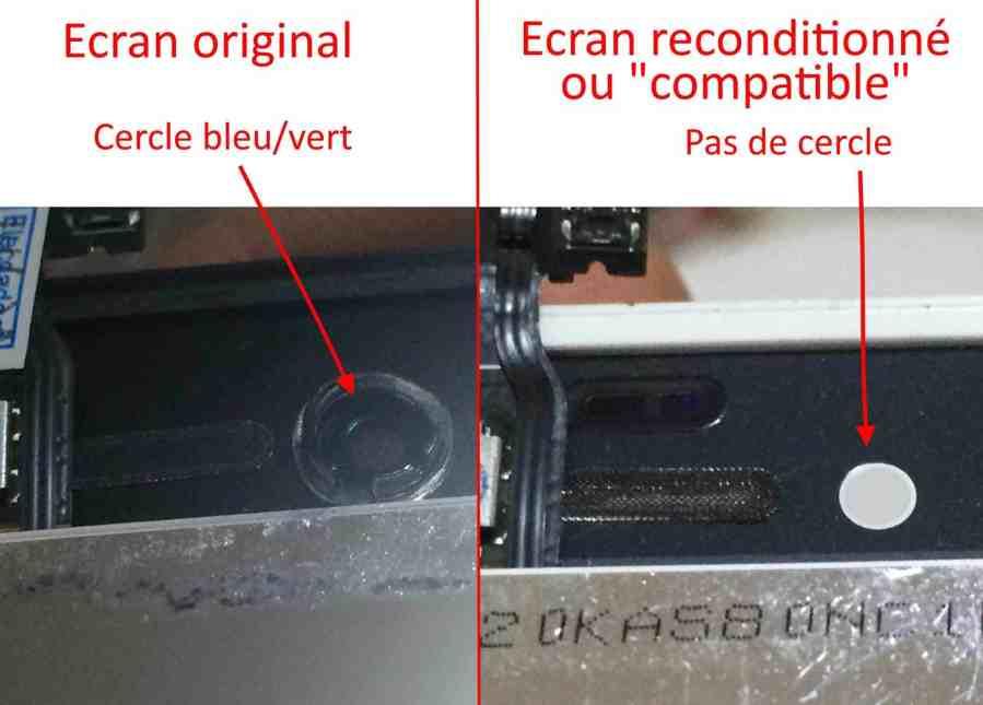 cercle camera frontale écran iphone 4 4s