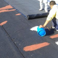 Instalacion de tela asfaltica