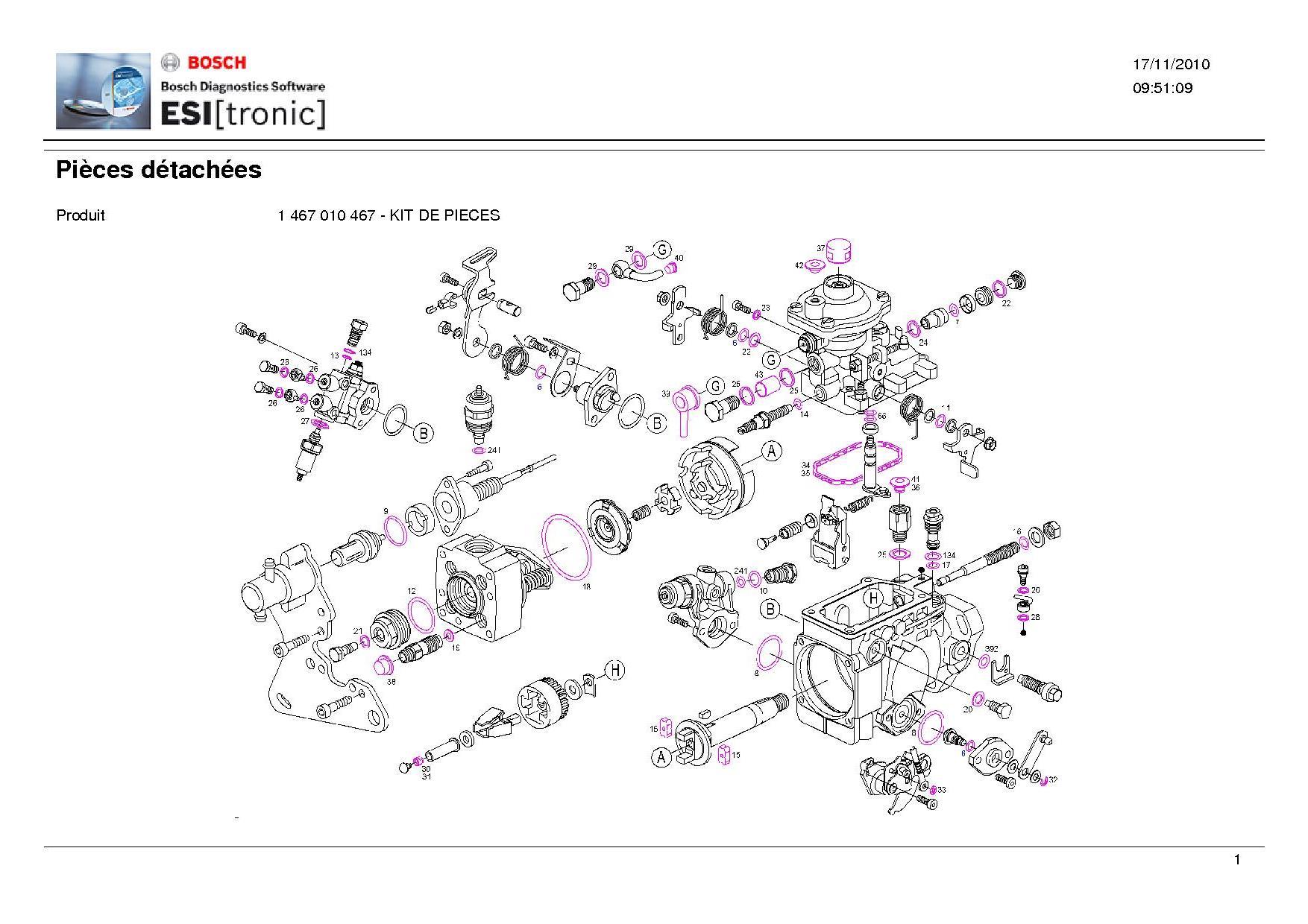 Pochette De Joint Pompe Bosch Turbo