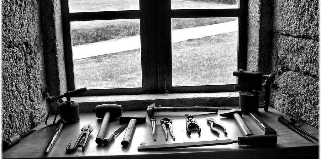 herramientas de reparación de aperos agrícolas