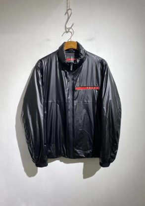 Prada new men's quilted stand collar jacket Replica 1:1