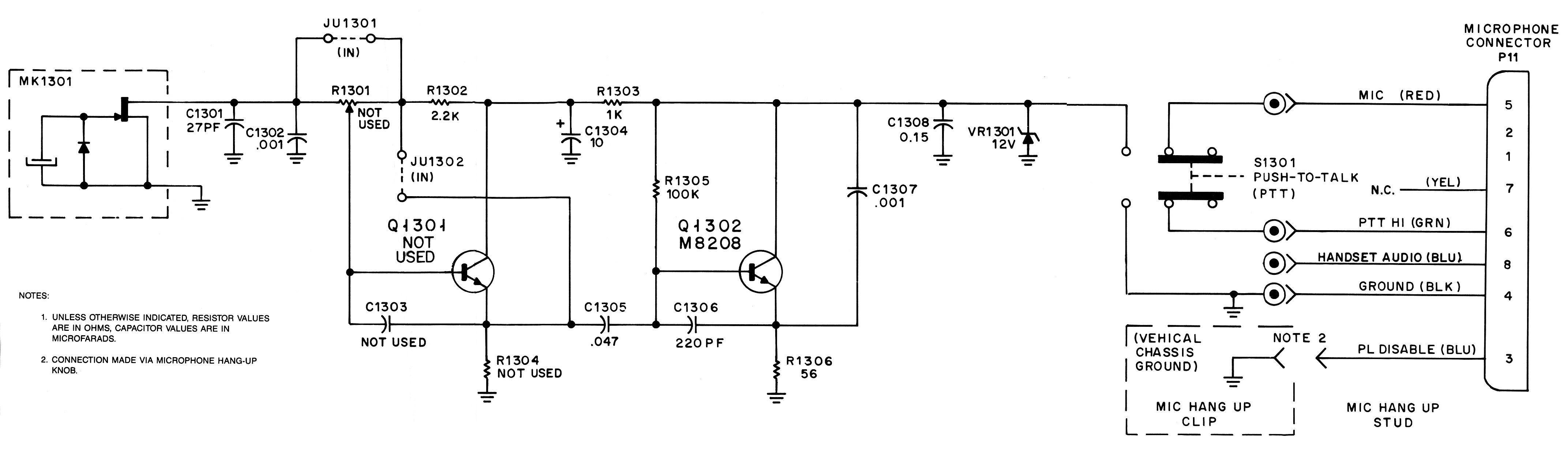 Motorola Microphone Wiring Mic
