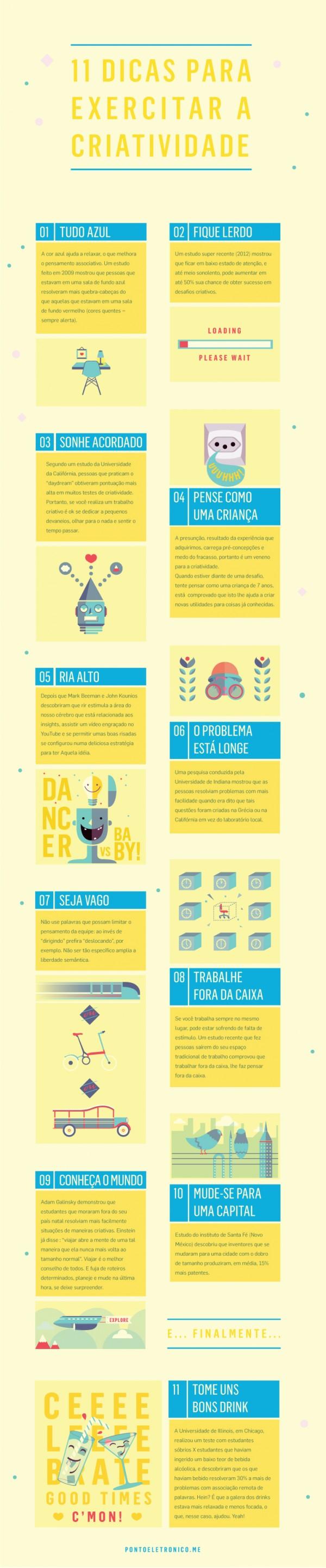 11  Dicas para Exercitar Criatividade