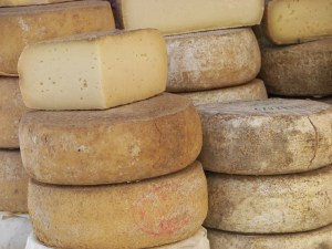 Cheese forms in Italy