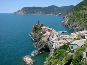 Vernazza, Cinque terre, from the back