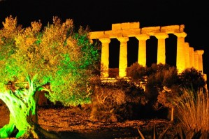 Night view of one of the Temple in Agrigento
