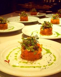 Fish Dish in an Italian Restuarant