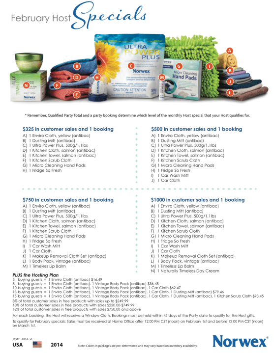 Contact me to host an on-line or in-home Norwex party to earn free Norwex hosting gifts!  Ready to host your own Norwex Launch Party?  Ask me how to earn the hosting gifts AND get your consultant discount!!  Win-win!!