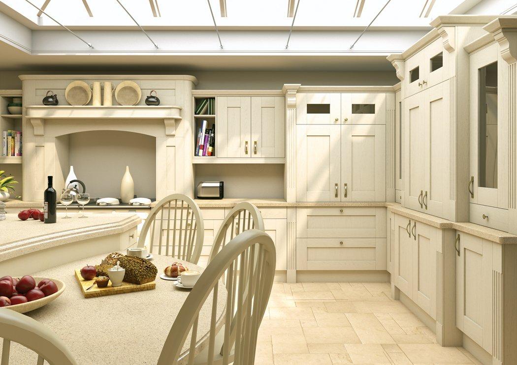 Pronto Wilton Oakgrain Cream Kitchen