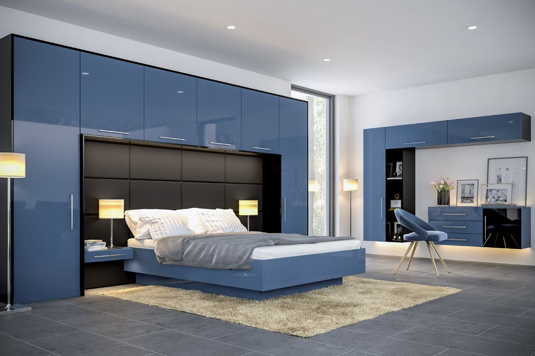 Zurfiz Ultragloss Baltic Blue Bedroom
