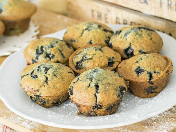 Image of gluten-free blueberry muffins