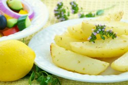 Image of Greek lemon potatoes