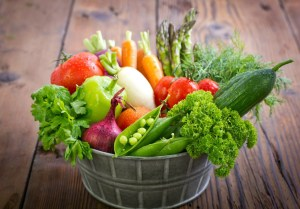 An image of vegetables in a basket