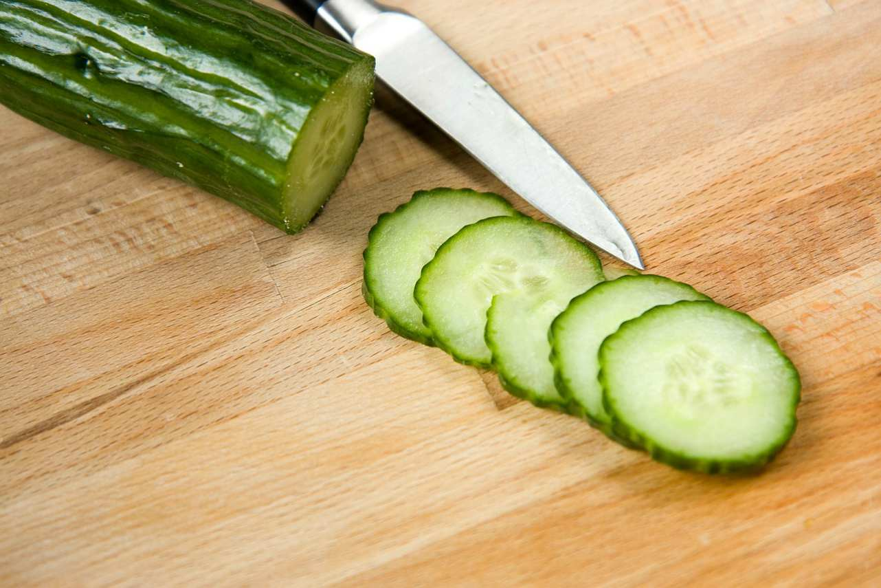 An image of sliced cucumber
