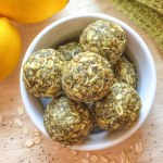 An image of a bowl of Lemon Poppy Seed Energy Bites