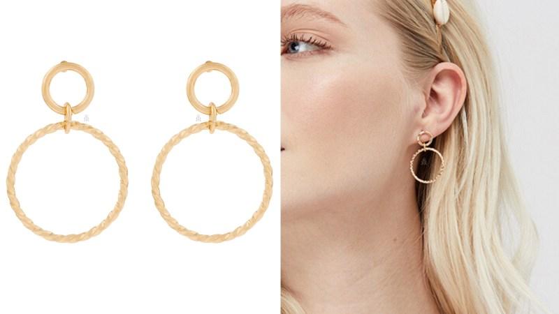 Accessorize twisted hoop drop earrings