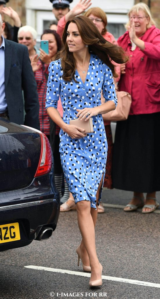 Catherine, The Duchess of Cambridge visit Stewards Academy with Heads Together, in Harlow, wearing Altazurra. Picture by Andrew Parsons / i-Images