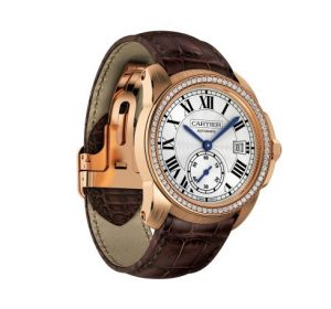 Fake Calibre De Cartier Watches     Canada Replica Watches  Replica     The comfortable copy Calibre De Cartier WF100013 watches have brown  alligator leather straps