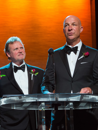 From left: Mike Branham, Steve Smith and Mike Kirilenko during the Academy of Motion Picture Arts and Sciences' Scientific and Technical Achievement Awards on February 13, 2016, in Beverly Hills, California.