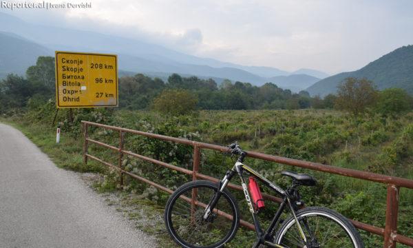 Rruga për në Ohër nga pika kufitare e Tushemishtit në Shqipëri. Foto: Ivana Dervishi/BIRN