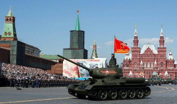 Ceremonia e paradës Dita e Fitores në Sheshin e Kuq të Moskës, Rusi, 9 maj 2016. Foto: (AP Photo/Pavel Golovkin)