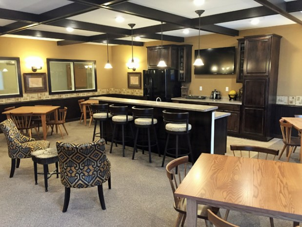 The Club Room at The Village Cooperative gives seniors a place to gather and connect with friends and family. (Photo courtesy Village Cooperative)