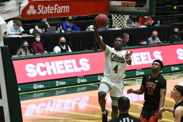 Colorado State sophomore Isaiah Stevens goes ...