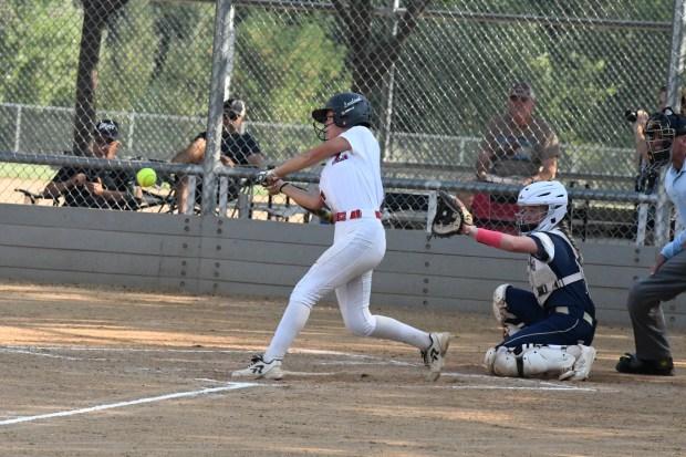 Loveland junior Emma Case swings for ...