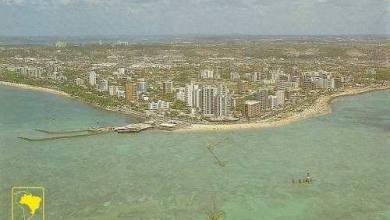 Photo of Foto aérea da Ponta Verde na década de 90