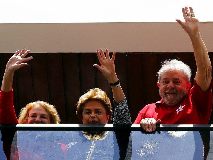 Dona Marisa Letícia, Dilma Rousseff e Lula em São Bernardo do Campo