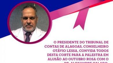 Photo of TCE/AL Promove ciclo de palestra – Outubro Rosa