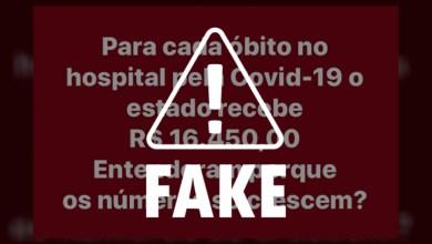 Photo of FAKE NEWS! É falso que os governos estaduais recebem recursos por cada óbito de Covid-19