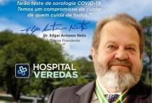 Photo of PRECAUÇÃO – Hospital Veredas inicia testagem para Covid-19 em colaboradores a partir desta segunda