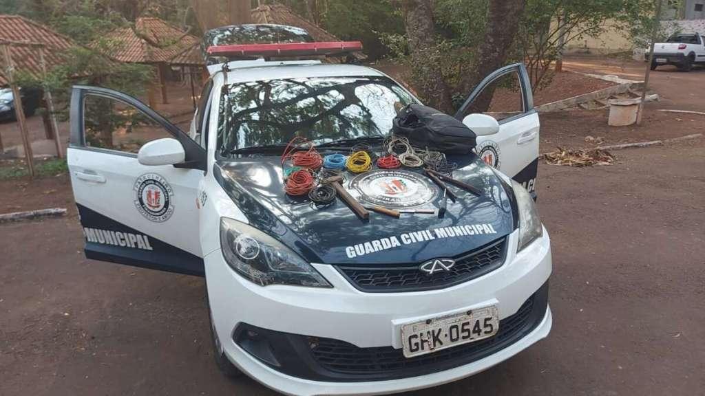 GCM de Pirassununga prende e recupera Cabos Elétricos furtados