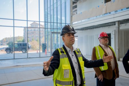 A peek inside mercedes benz usa s new headquarters for Mercedes benz usa dietmar exler