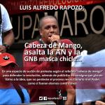 LUIS ALFREDO RAPOZO: Cabeza de Mango, asalta la AN y la GNB masca chicle…