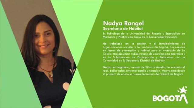 Resultado de imagen para Nadya Rangel como nueva secretaria de Hábitat
