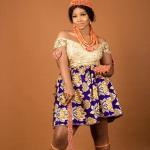 Tacha dressed in native attire