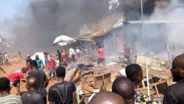 Onitsha Fire: Woman, Child Dies In Petrol Tanker Explosion (Video)